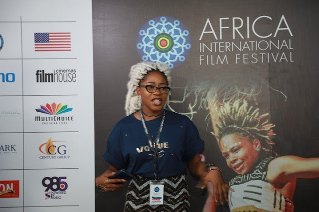 'Sex For Grade' Journalist, Kiki Mordi Spotted At TECNO AFRIFF2019 MasterClass