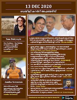 Daily Malayalam Current Affairs 13 Dec 2020