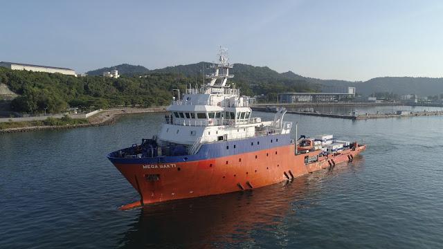 MV Mega Bakti. Foto de la fuerza submarina de la Armada Real de Malasia