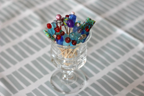 DIY Beaded Food Picks
