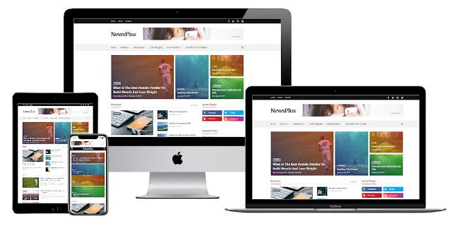 NewsPlus Premium Blogger Template