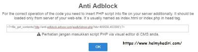script anti adblock dari adnow