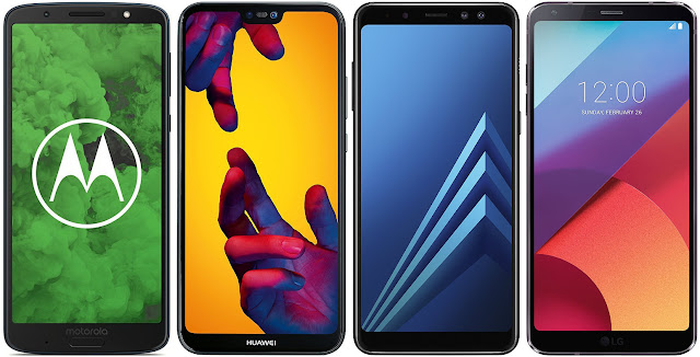 Motorola Moto G6 Plus vs Huawei P20 Lite vs Samsung Galaxy A8 (2018) vs LG G6