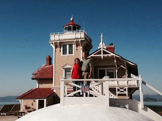 Mike and Gena at East Brother Light Station Victorian Bed and Breakfast