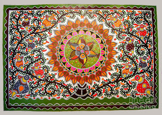 Madhubani Paintings Saree Design