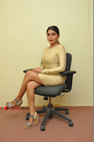 Actress Pooja Roshan Stills in Golden Short Dress at Box Movie Audio Launch  0031.JPG