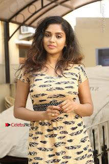 Telugu Actress Karunya Chowdary Stills in Short Dress at ATM Not Working Press Meet  0001.jpg