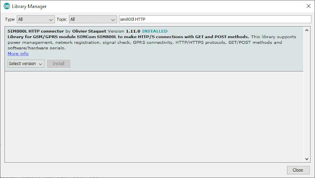 Mengendalikan Arduino SIM800L  dengan Thingspeak