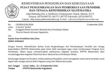 Panggilan Diklat IN GP Gelombang V (16 - 24 Sept 2016)