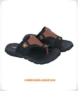 Sandal Casual Pria Warna Hitam Elegan