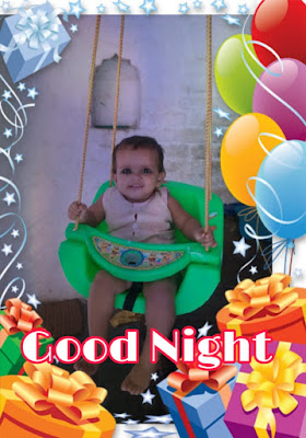 cute baby good night image pics photo new hatsapp hd