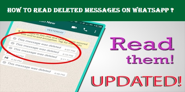 How to Read Deleted Messages on Whatsapp ? Whatsapp delete msg kaise dekhe?