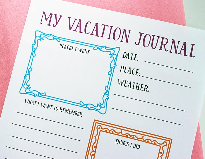 free printable travel journal for your family vacation memories