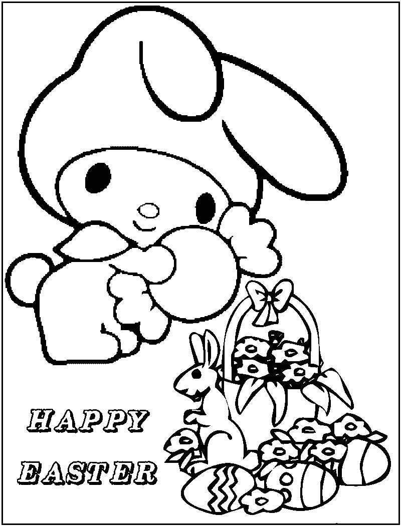 hello kitty easter coloring pages - easter coloring pages easter coloring sheets