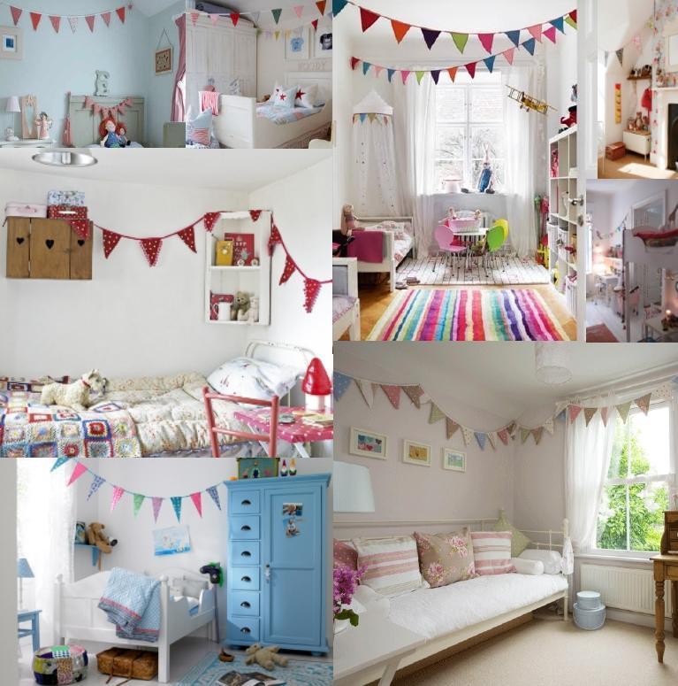 Manualidades luna clara banderines for Decoraciones para el techo de mi cuarto