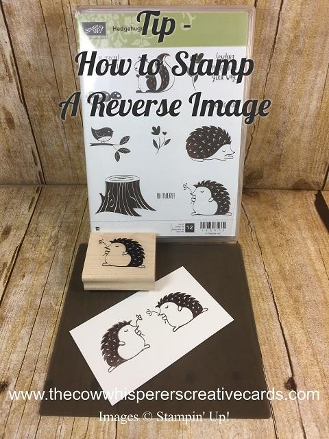 Tip, Reverse Image, Stampin'UP, Stamping