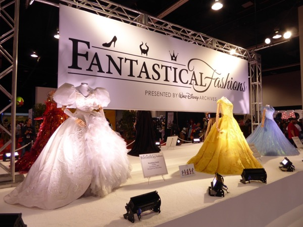 Fantastical Fashions costume exhibit D23 Expo