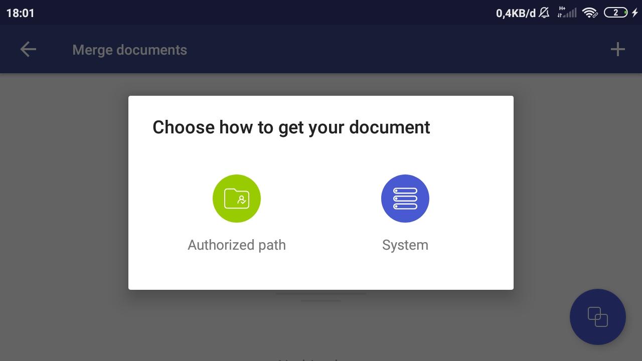 Pilih Menu System untuk Memilih Lokasi Penyimpanan File PDF