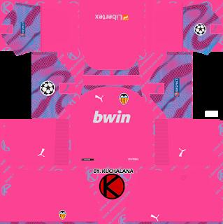 Valencia CF 2019/2020 champions league Kit - Dream League Soccer Kits