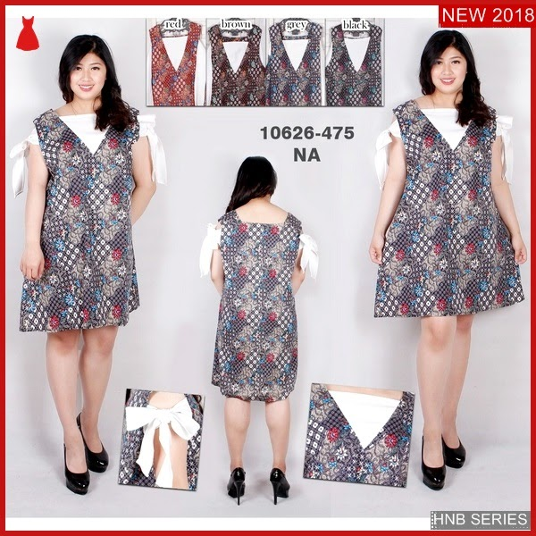 HNB094 Model Setelan Dress Batik Ukuran Besar Jumbo BMG Shop