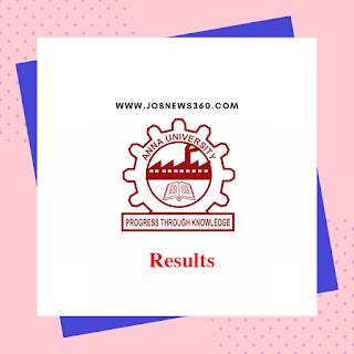 Anna University Results Nov Dec 2018 Jan 2019 aucoe Updates