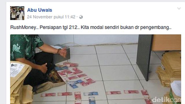 Abu Uwais, Tersangka Isu Rush Money Pamer Uang SPP Siswanya