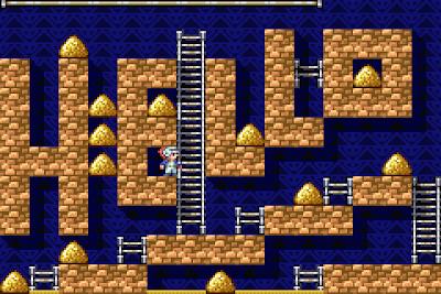 【GBA】淘金者(Lode Runner、挖金礦),懷舊好玩的益智遊戲!