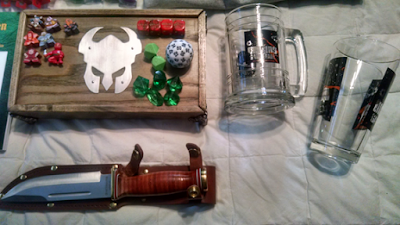 My dice and stuff that is sharp