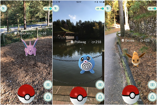 Catching Pokemon at Center Parcs