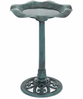 Best Choice Products Outdoor Lily Leaf Resin Bird Bath
