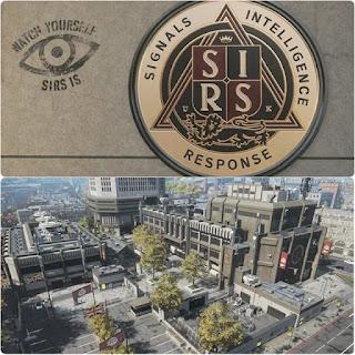 SIRSのロゴと本社建物