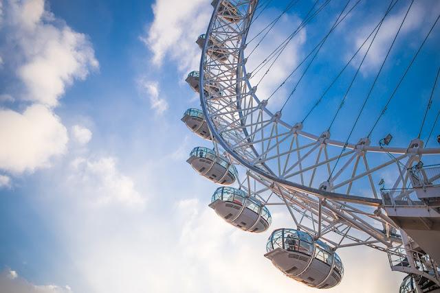 Ferris wheel side view