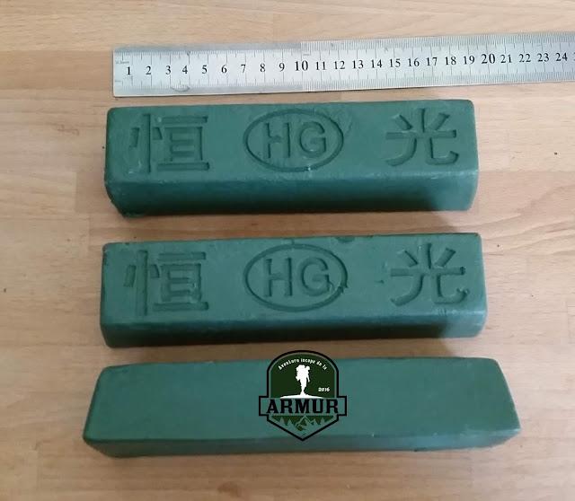 Pasta verde, abraziva, pentru lustruit cutite