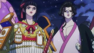 ワンピースアニメ 993話 ワノ国編   お菊 菊の丞 イゾウ かっこいい   ONE PIECE IZO KIKU