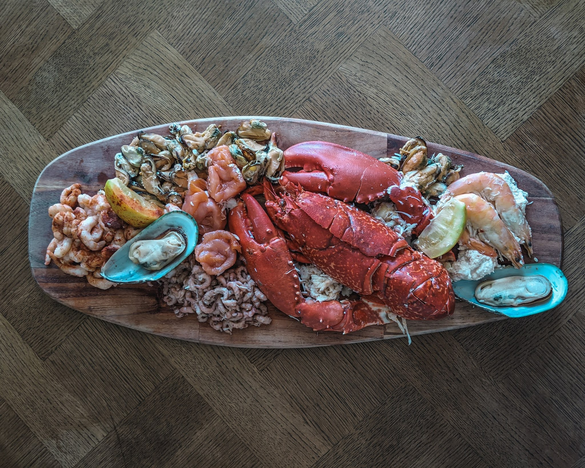 ferry fish luxury seafood graze box visit dumfries and galloway