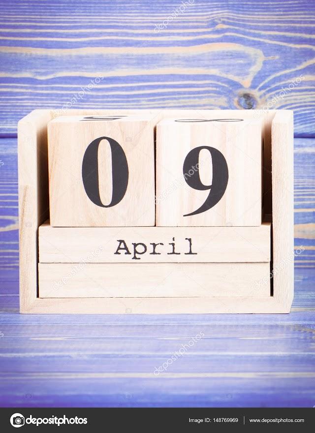 9 de Abril- O dia de hoje na história: fatos e acontecimentos em Elesbão Veloso.