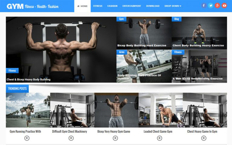 Gym Responsive Blogger Template 1