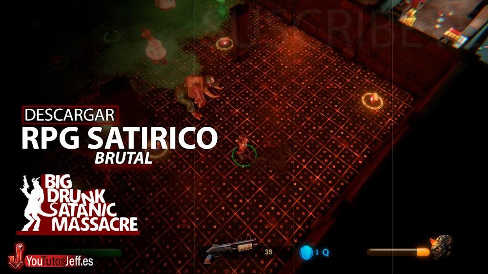 RPG Satírico, Descargar Big Drunk Satanic Massacre para PC Gratis