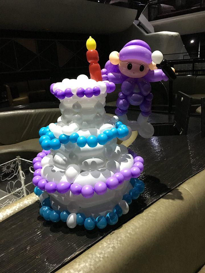 氣球生日派對蛋糕