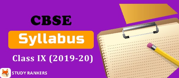 CBSE Syllabus for Class 9th 2019-20