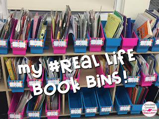 book bins- a solution for students organization with flexible seating in upper elementary