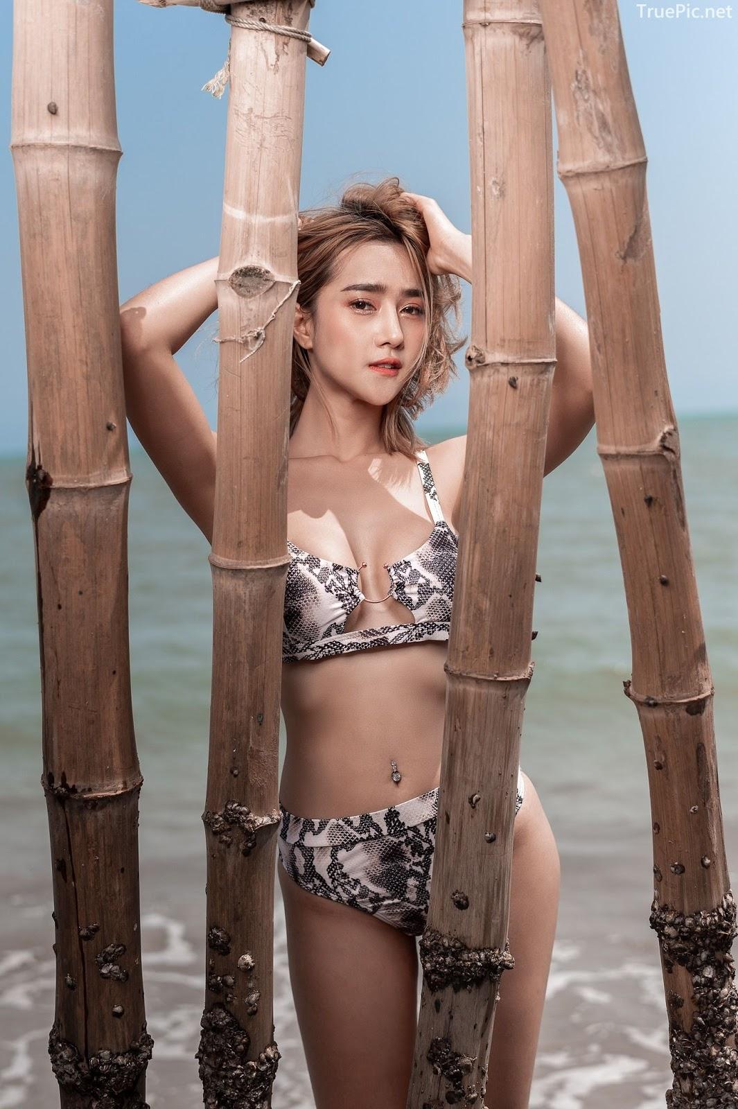 Thailand Hot Model - YingGy Ponjuree - Sea Vibes and Snakeskin Bikini - TruePic.net - Picture 2