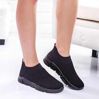 Pantofi sport Deyna negri moderni 2018
