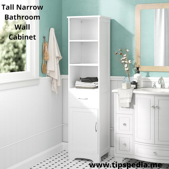 tall narrow bathroom wall cabinet