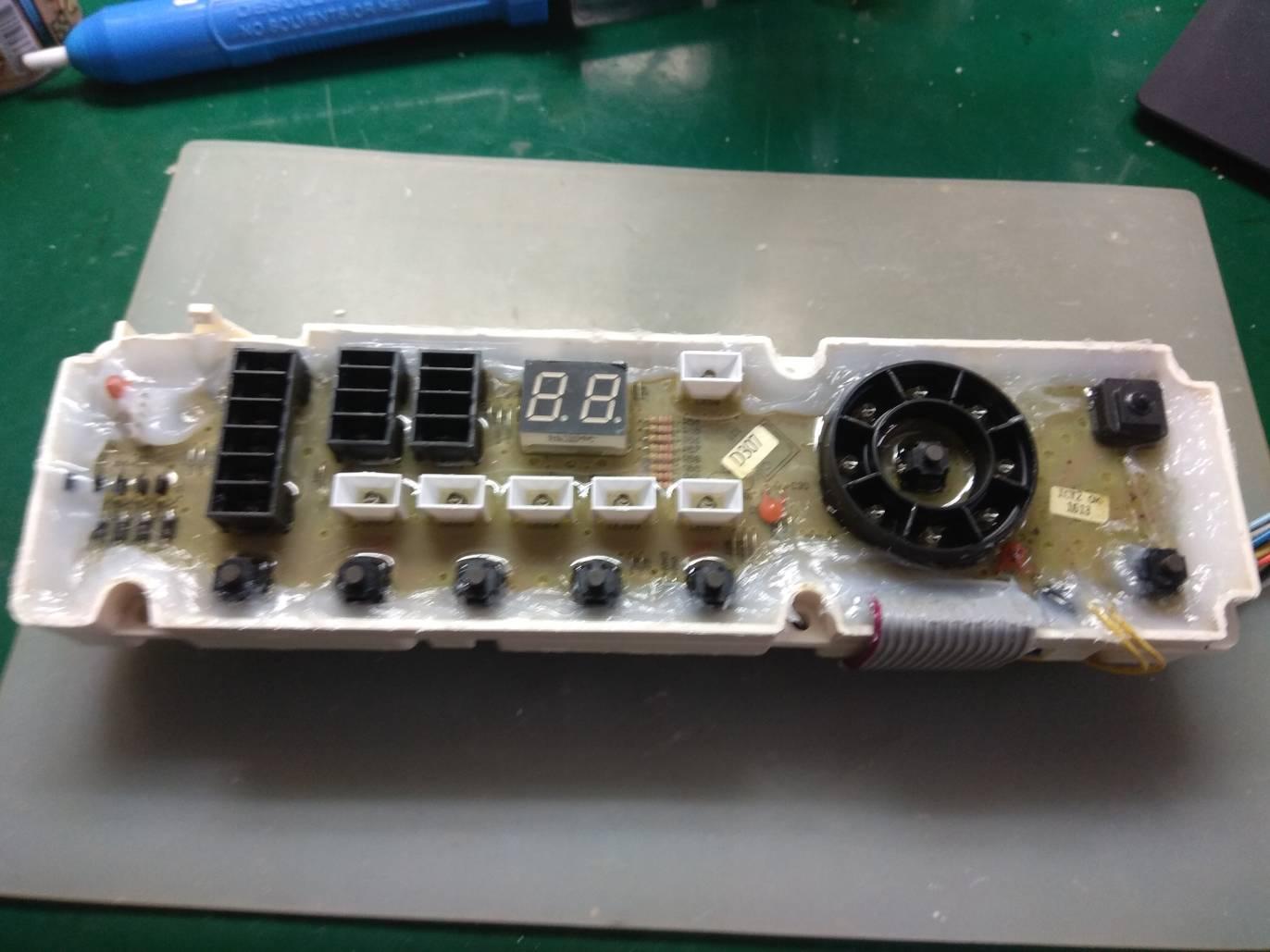 高動維修: SANYO 臺灣三洋 SANLUX 洗衣機 SW-13UF3/SW-13UF8 開機後閃一下即不顯示 (E7)