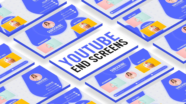 YouTube End Screen Template Aesthetic - After Effects Template
