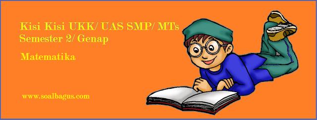 Download dan dapatkan kisi kisi ukk matematika smp kelas 8 semester 2/ genap kurikulum ktsp