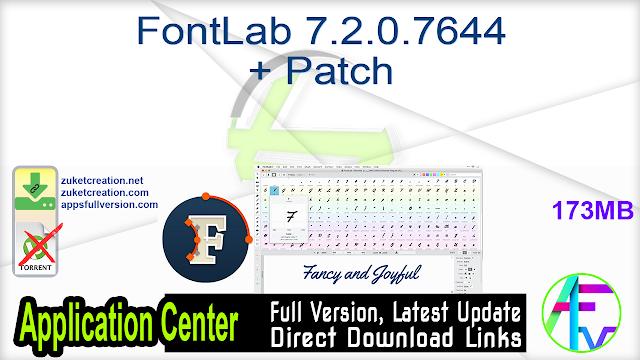 FontLab 7.2.0.7644 + Patch
