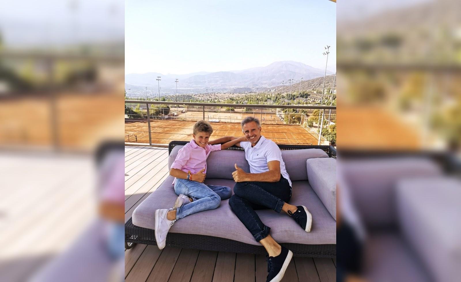 Mi hijo Bautista puede ser parte del recambio del tenis chileno