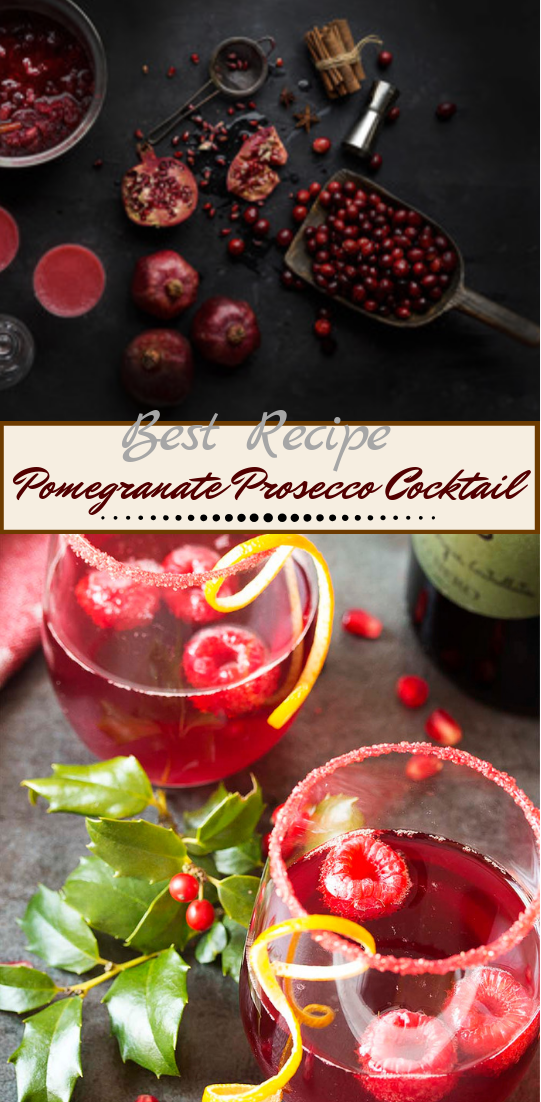 Pomegranate Prosecco Cocktail  #healthydrink #easyrecipe #cocktail #smoothie